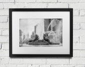 Logan Square Circle Fountain in Black and White On Photo Paper or Canvas.  Photo Made In Philadelphia.
