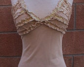 Nude squence top