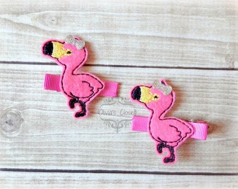 Flamingo Hair Clip Pink Flamingo Hair Clippie Pick one or two. Pick Left side or Right.