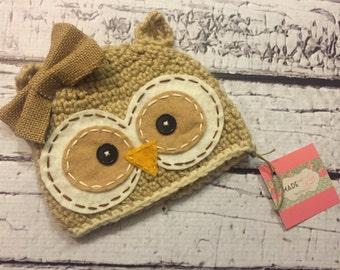 Hootie the owl crochet hat