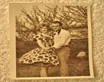"Vintage 1950s Photo "" Texas Square Dance Couple "" Paper Ephemera Old Photo Vernacular Photograph Lot no. 24"