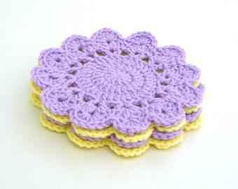 Crochet Scallop Circle Coaster Pattern, Crochet Coaster Pattern 012, Instant Download, Crochet PDF Pattern