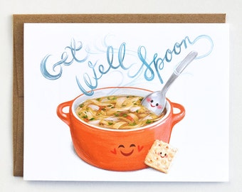 Get Well Card - feel better card, get well soon card