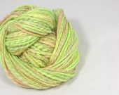 Citrus and apricot 2 ply merino Hand spun yarn.  hand dyed Pure Australian wool yarn.