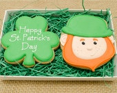Decorated Cookies - St. Patrick's Day - Gift Box