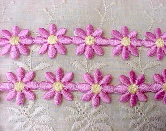 Pretty Pink Iron On Daisy Appliques