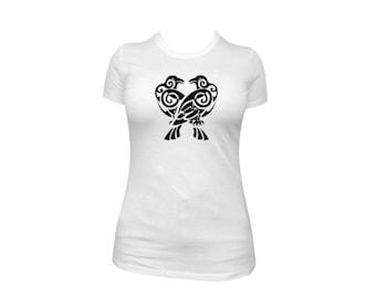 T-Shirt- Tribal Birds Design (Design 268)