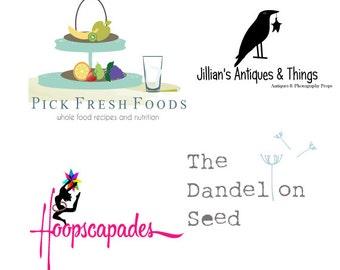 Logo Design - Luxury Business Branding - Web Logo - Social Media  - Blog Logo - Marketing - Dandelion Logo - Clothing Logo - Script