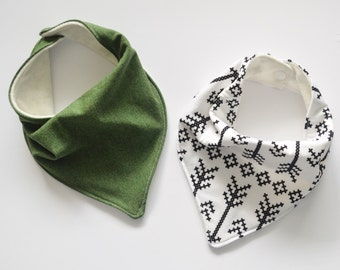 Forest Green and Arrow Baby Bandana, Drool Bib, Baby Bib, Baby Boy, Baby Girl, Bibdana, Bandana Bib, Hipster Baby Clothes