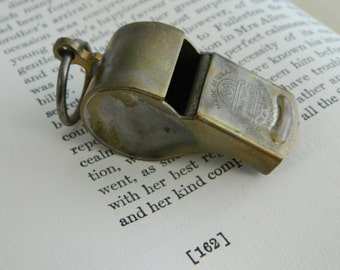 Vintage Brass Whistle.