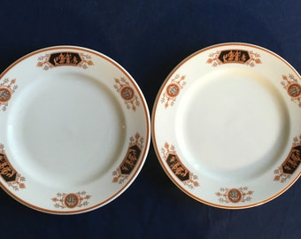 "Vintage Syracuse Old Ivory Restaurant Hotel China ""Grecian"" 7-1/4"" Plates (Set of Two) Excellent Condition"