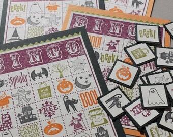 Individually Hand Stamped Halloween Bingo Set-updated box!