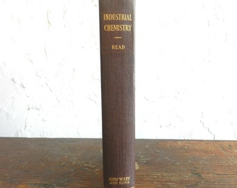 1933 INDUSTRIAL CHEMISTRY BOOK - Collectible / Rare / Ogburn / Science