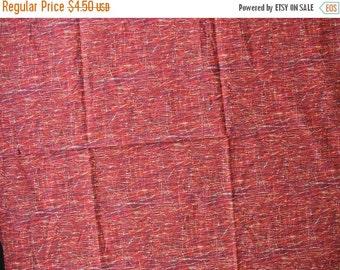 "40% OFF Orange Rust Brown Cotton Quilt Fabric - 25"" x 21"" - CFL0338"