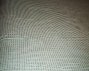 Vintage  Buttonhole Chenille Twin Bedspread
