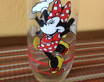 Dancing Mickey and Minnie Mouse Disney Glass Tumbler
