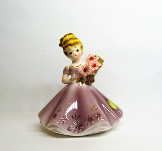 Vintage 50s Josef Originals July Birthday Girl Figurine July