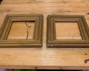 A pair of antique picture frames, 19th c, gilt frames, art, wall art, picture frame, vintage home