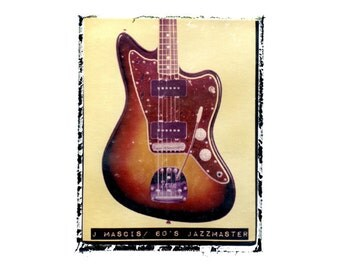 J Mascis Dinosaur Jr guitar art print / music gift / rock n roll art / music room decor / guitar gift / man cave art