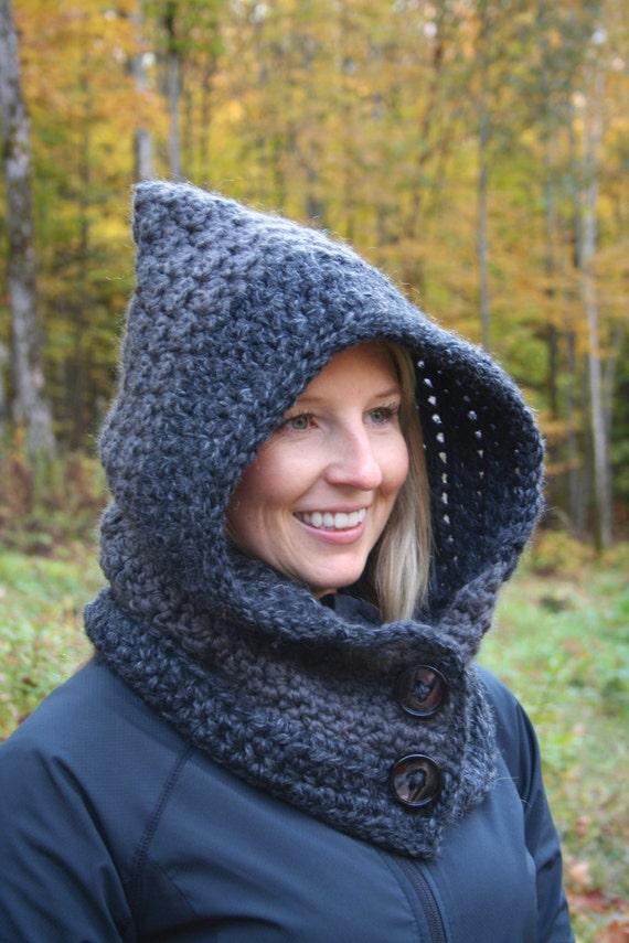 Scoodie Knitting Pattern Free : CROCHET PATTERN - Cozy Hooded Cowl Crochet Pattern - Crochet Scoodie Cowl Pat...