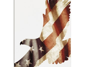 Freedom Eagle | Contemporary Metal US Flag Silhouette Art