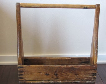 Vintage Wood Tool Box, Vintage Wood Tool Caddy