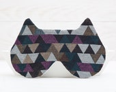 Cat Sleep Mask, geometric pattern, Slumber Party