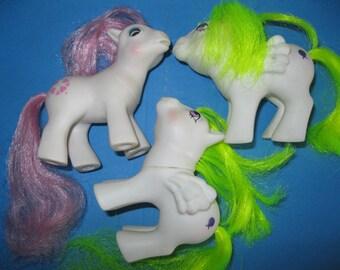 My Little Pony baby TLC Bait customization lot #2 MLP 1980s 80s toys eighties