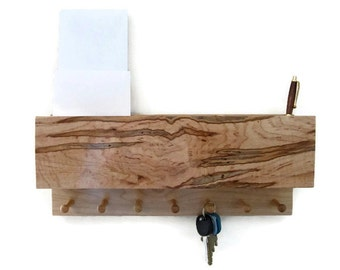 Beautiful ambrosia maple Mail Organizer and Key holder made with or without compartments.