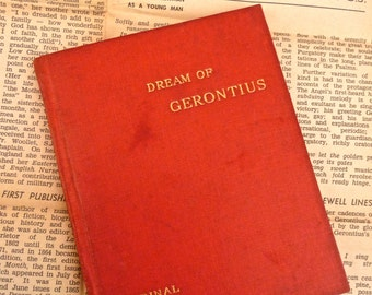 The Dream of Gerontius by Cardinal Newman 1900 Edition Red Cloth Hardcover Book