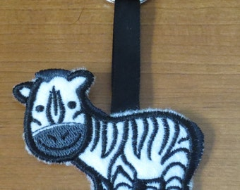 Cute Critter zebra keychain