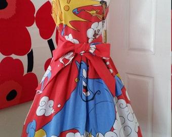 Custom Made to Order Disney Aladdin party Dress Sz Small to 2X