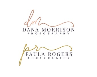Premade photography logo, photography watermark design, signature script logo, calligraphy font logo 304