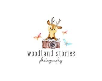newborn photography logo, premade photography logo and watermark, child shop logo, camera logo, giraffe logo  271