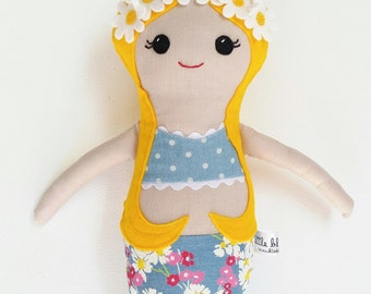 Handmade mermaid doll, mermaid rag doll, mermaid cloth doll, handmade rag doll, handmade cloth doll, handmade mermaid doll, heirloom doll
