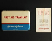 Vintage Tin First Aid Kit by Johnson & Johnson First Aid Travelkit