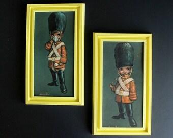 Vintage Barry Leighton Jones Big Eyed Children Boy Toy Soldier