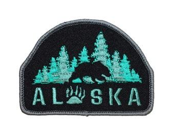 American Travel Alaska The Last Frontier Bear Souvenir Patch Iron-On Applique