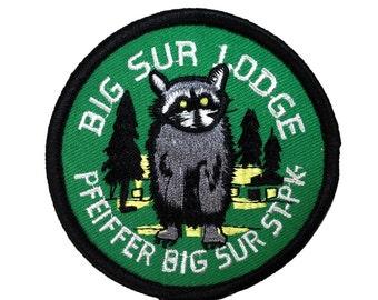 """Souvenir Patch """"Big Sur Lodge"""" Pfeiffer State Park California Iron-On Applique"""