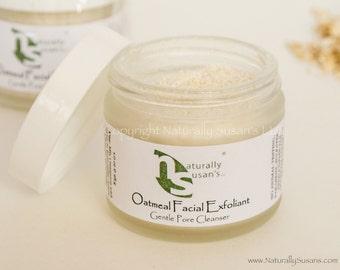 FACIAL MASK - Oatmeal Facial Exfoliant Mask - All Natural Organic Face Mask 1.3oz