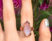 OOAK Rose aura point ring - 7 -electroformed Copper