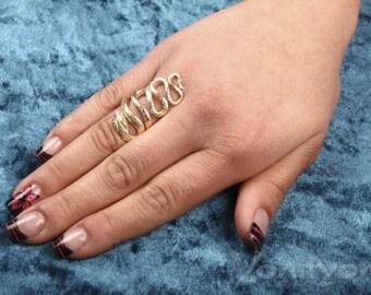 Snake Ring,  Gold Ring -