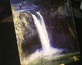 Glass Cutting Board - Snoqualmie Falls - 7.75 in  x 10.75 in