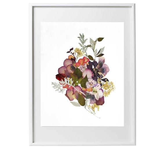 Framed Dried Flowers Art Flower Art Pressed Plant By
