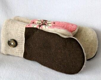 Polar Fleece Lined Wool Sweater Mittens,Wool Mittens,Lined Wool Mittens,Sweater Mittens,Fleece Lined Mittens,Michigan Made,Miss Eves Mittens