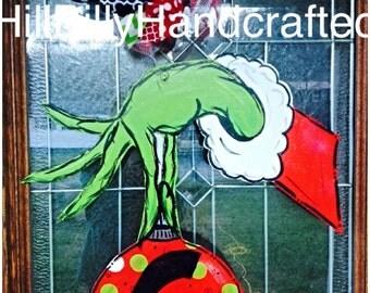 The Grinch Door Hanger, Christmas Door Hanger