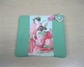 Beautiful  Mahjong change purse with Geisha design panel