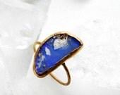 ON SALE opal ring, boulder opal, rose gold, rose gold ring, fire opal ring, opal jewelry, skinny band, gifts for her