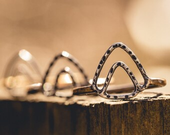 To the Mountains Mixed Metal Ring
