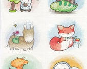 Chubby Animal Stickers